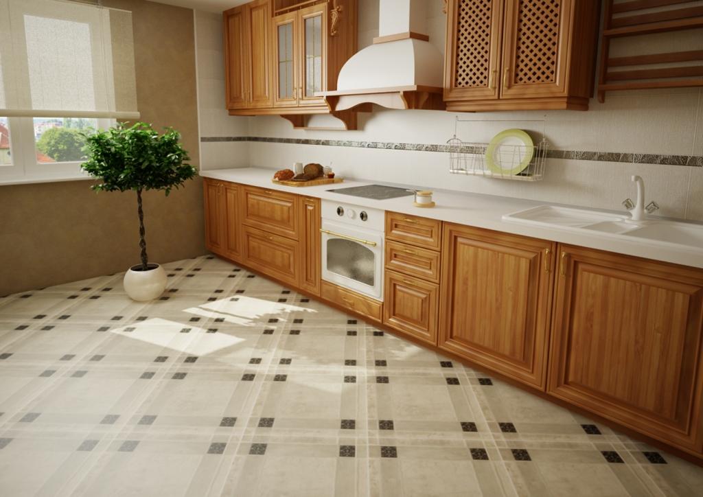 Выбираем напольное покрытие для кухни
