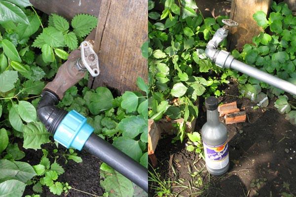 Водопровод в саду из полипропиленовых труб своими руками